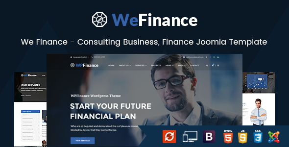 We Finance - Consulting Business, Finance Joomla Template - Business Corporate
