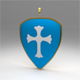 Pendant  shield with a cross - 3DOcean Item for Sale