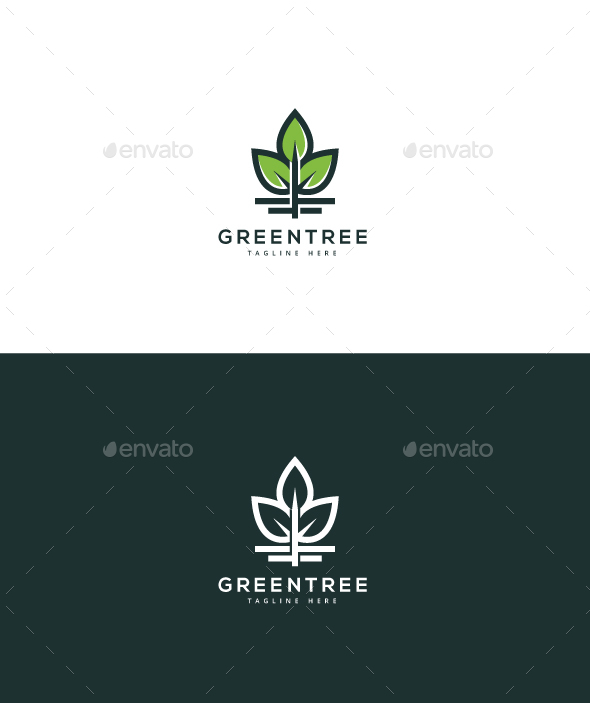 Green Tree Logo - Nature Logo Templates