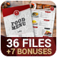 Food Menu + 7 Bonuses - GraphicRiver Item for Sale