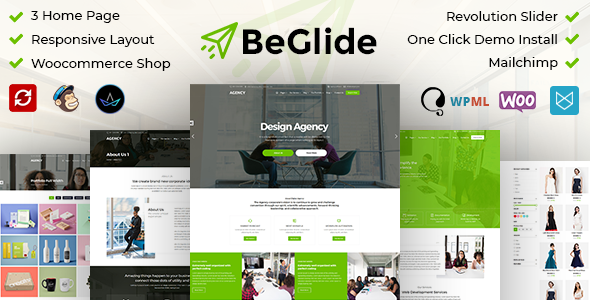 BeGlide: Corporate Agency WordPress Theme Free Download | Nulled