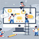 Team of People Building or Designing Computer App - GraphicRiver Item for Sale