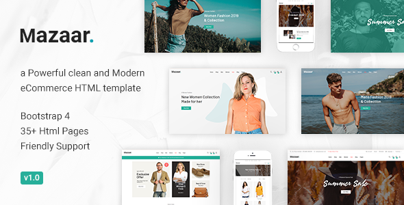 Mazaar - Responsive Ecommerce Html Template Free Download | Nulled