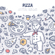 Pizza Doodle Concept - GraphicRiver Item for Sale