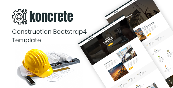 Koncrete - Construction Bootstrap 4 Template Free Download | Nulled