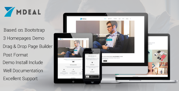 Mdeal - Responsive Business Drupal 7.6 Theme - Business Corporate
