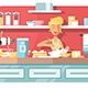Housewife Cooking Food on Kitchen - GraphicRiver Item for Sale