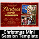 Christmas Mini Session Template - GraphicRiver Item for Sale