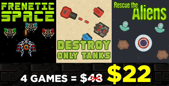 Games Chaos and Destruction Bundle 3 Games - HTML5 Game (CAPX)            Nulled