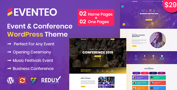 Eventeo - Event & Conference WordPress Theme Free Download | Nulled