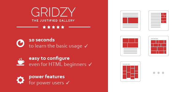 Gridzy – Responsive and Justified Image Grid Gallery - CodeCanyon Item for Sale