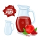 Glass Jug with Natural Pomegranate Juice - GraphicRiver Item for Sale