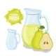 Glass Jug with Natural Pear Juice - GraphicRiver Item for Sale