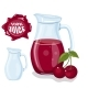 Glass Jug with Natural Cherry Juice - GraphicRiver Item for Sale