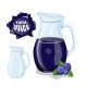 Glass Jug with Natural Blueberry Juice - GraphicRiver Item for Sale