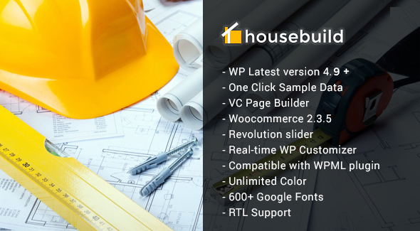 Housebuild - WordPress Construction Business Theme - Business Corporate