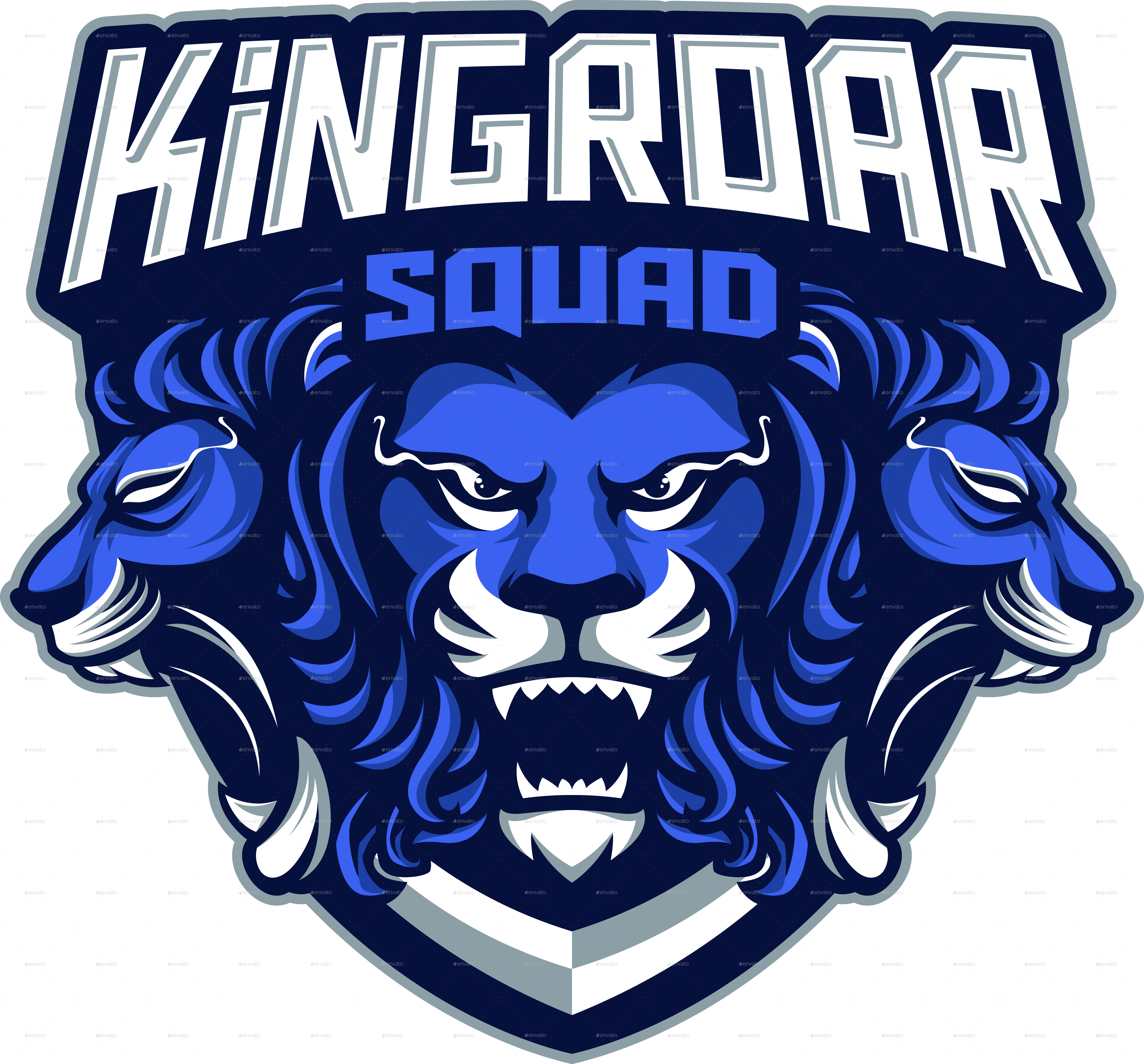 Kingroar Mascot logo by FreeHand_09 | GraphicRiver