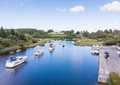Aerial View of Lisloughrey Pier in Ireland - PhotoDune Item for Sale