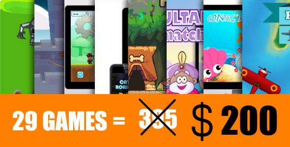 Mega Bundle 29 HTML5 Games (CAPX)            Nulled