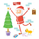 Santa Claus Celebrates Christmas - GraphicRiver Item for Sale