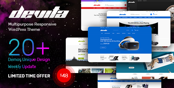 Devita - Multipurpose Responsive Magento Theme 20+ Demos - Shopping Magento