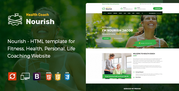 Nourish - HTML Template for Personal Life Coaching Website Free Download | Nulled