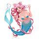 Smiling Mermaid with Long Pink Hair - GraphicRiver Item for Sale
