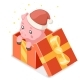 Cartoon Baby Pig Gift Box Isometric - GraphicRiver Item for Sale