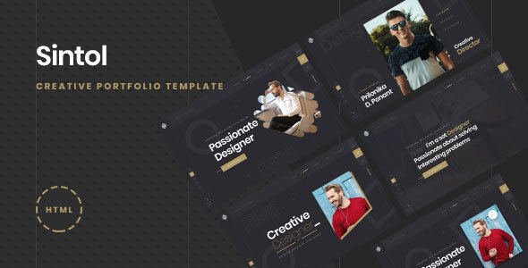 Sintol - Personal Portfolio HTML5/Bootstrap4 Template Free Download   Nulled