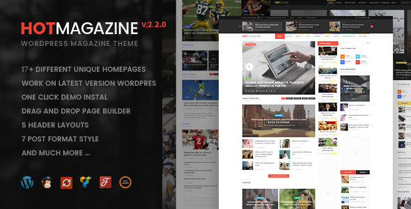 Hotmagazine - News & Magazine WordPress Theme - News / Editorial Blog / Magazine