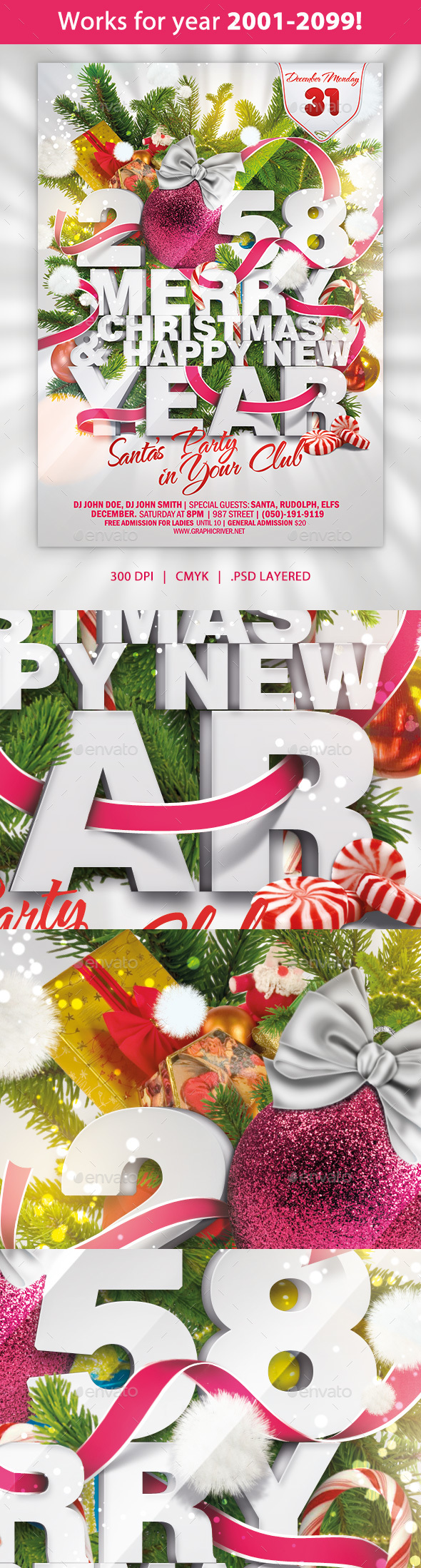 Happy Christmas and New Year - Clubs & Parties Events