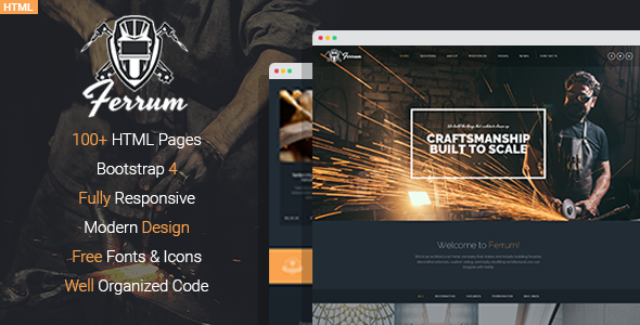 Ferrum - Welding And Metal Works HTML Template Free Download | Nulled