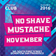Movember No Shave Party Templatess - GraphicRiver Item for Sale