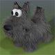 Cartoon Scottish Terrier Dog Model