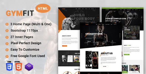 GYM FIT- Gym & Fitness HTML5 Responsive Template Free Download | Nulled