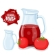Plastic Bottle with Red Tomato Juice - GraphicRiver Item for Sale