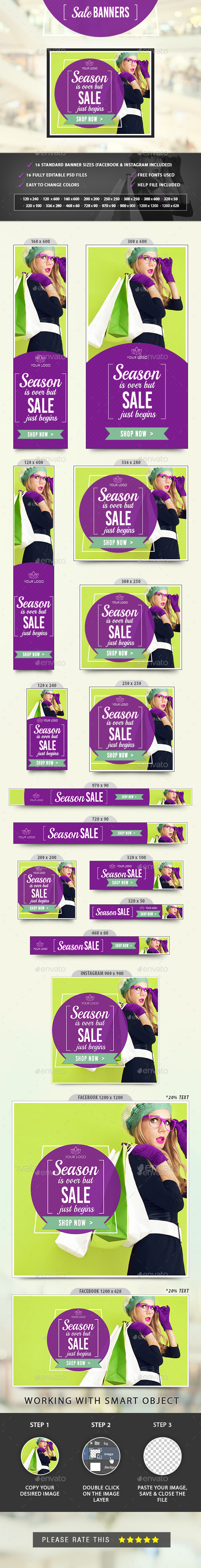 Sale Banners - Banners & Ads Web Elements