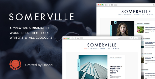 Somerville - Minimalist & Typography-First Theme for Writers
