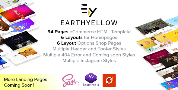Earthyellow - Responsive Ecommerce HTML5 Template - Corporate Site Templates