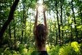 Young  woman holding sun in the hands.   - PhotoDune Item for Sale