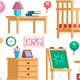 Set Childrens Room Interior Furniture Collection - GraphicRiver Item for Sale