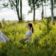 Portrait of two young woman enjoying pranayama  - PhotoDune Item for Sale