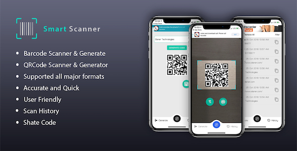 Smart Scanner and Generator Barcode | QRCode - CodeCanyon Item for Sale