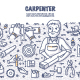 Carpenter Doodle Concept - GraphicRiver Item for Sale