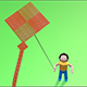 Origami Animated Kids with Kite