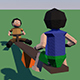 origami animated swing - 3DOcean Item for Sale