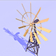 Origami animated windmill - 3DOcean Item for Sale