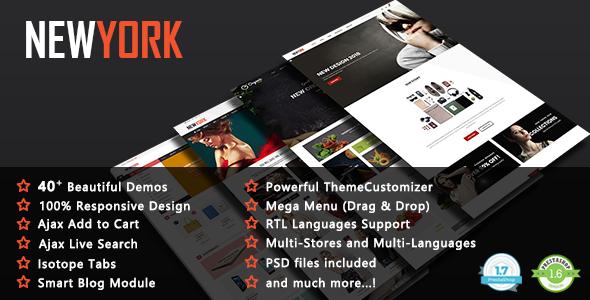 NewYork - Premium Multi-Purpose Responsive PrestaShop 1.7 & 1.6 Theme - Fashion PrestaShop