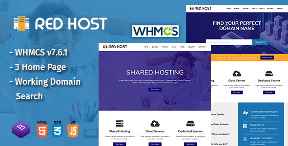RedHost Web Hosting HTML Template