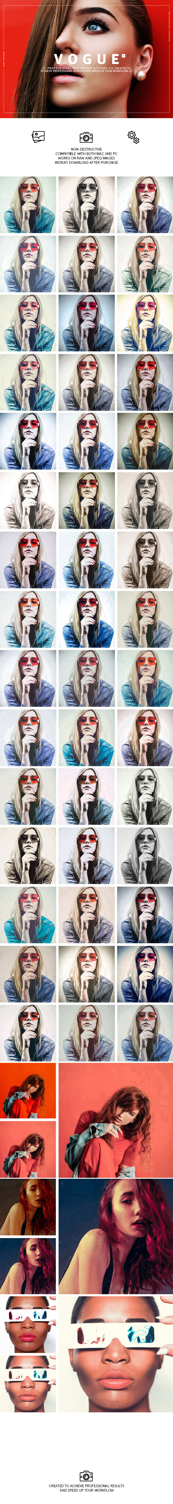 Vogue Fashion Photoshop Actions - Photo Effects Actions